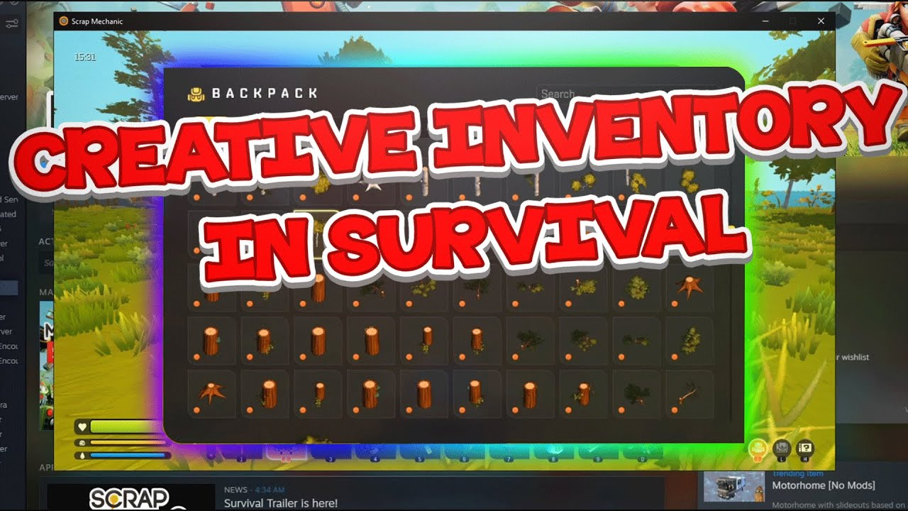 How To Get Cheats in Survival! (Legitly) || Scrap Mechanic