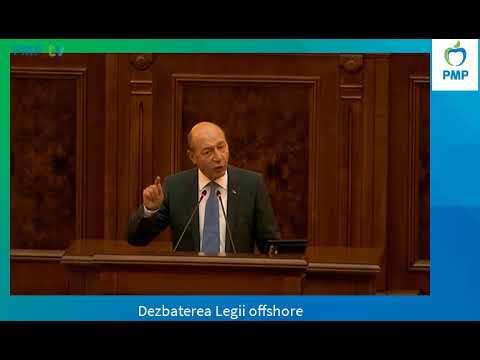 Președintele Traian Băsescu la dezbaterea Legii offshore