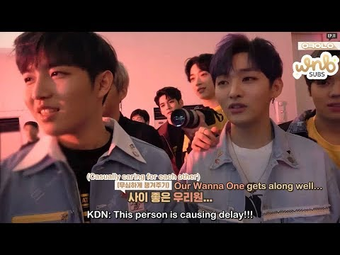 [ENG SUB] 180414 Okay Wanna One Ep 11 - Wing wing! Boomerang MV Filming by WNBSUBS