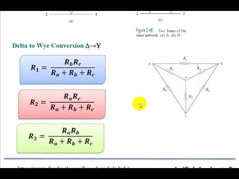 م1/  شرح تحويلات دلتا وستار wye and delta transformations (احمد شهاب)