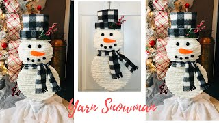 Dollar Tree Fuzzy Snowman Decoration Wreath DIY