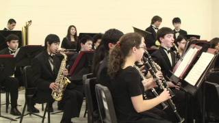 """Oceanscapes"" played by Hillsdale High School Wind Ensemble 2011-Dec-09"