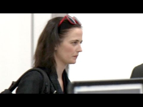 Bond Girl Eva Green Making Her Way Through LAX