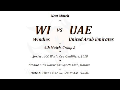 Windies Vs United Arab Emirates  6th Match  Group A