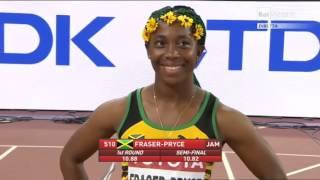 Finale 100 metri donne Pechino 2015 - Campionati del Mondo