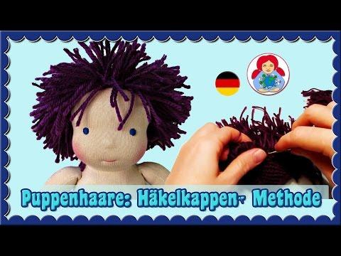 DIY | Puppenhaare: Häkelkappe-Methode | Schritt für Schritt Anleitung | Sami Dolls