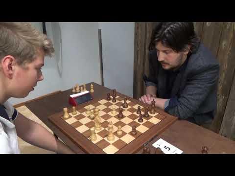 FM Kirill Chukavin – FM Matiss Mustaps , Sicilian Dragon, Blitz chess