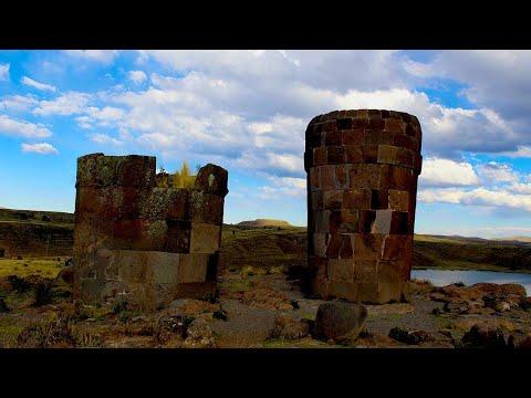 Sillustani village Lake Titicaca, Puno.