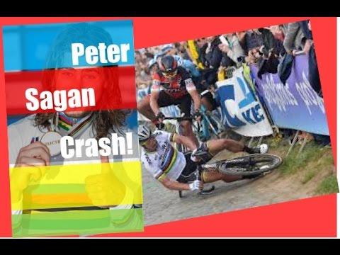 Peter Sagan crashes at E3 Harelbeke - bike crash - fail