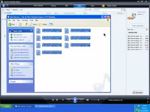 Burn Audio To CD With WINDOWS MEDIA PLAYER