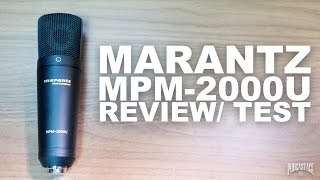 Marantz Professional MPM-2000U USB Mic Review / Test
