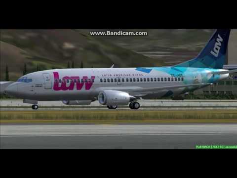 Latin American Wings B737 Santiago International Airport SCEL Landing FS9