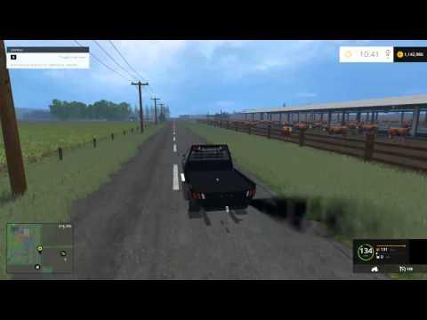 Farming Simulator 2015 Mods - Dodge 2500 Flatbed Cummins, Peterbilt