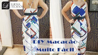 DIY – Macacão Pantalona Muito Fácil + Molde – Curso de Corte e Costura – Passo a Passo