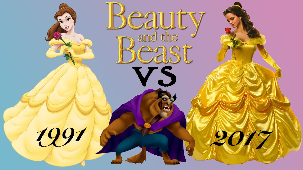 Image result for disney beauty and the beast 2017 vs animated
