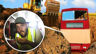 Escaping A Buried DOUBLE DECKER BUS!