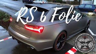 Grau matt Avery Folierung Audi RS 6 - wrap-a-car