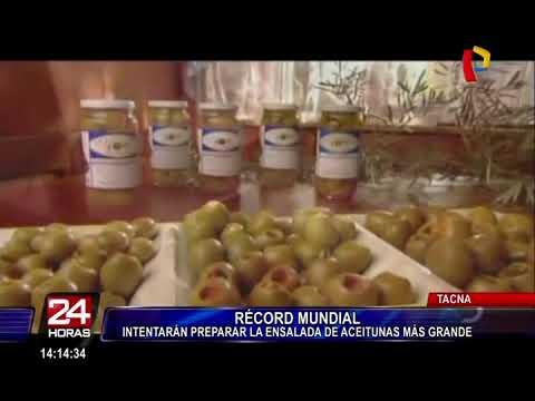 Tacna buscará Récord Guinness con ensalada de aceituna más grande del mundo