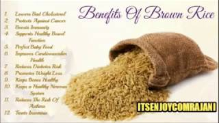 Brown Rice Health Benefits Weight Loss & Diabetes Control