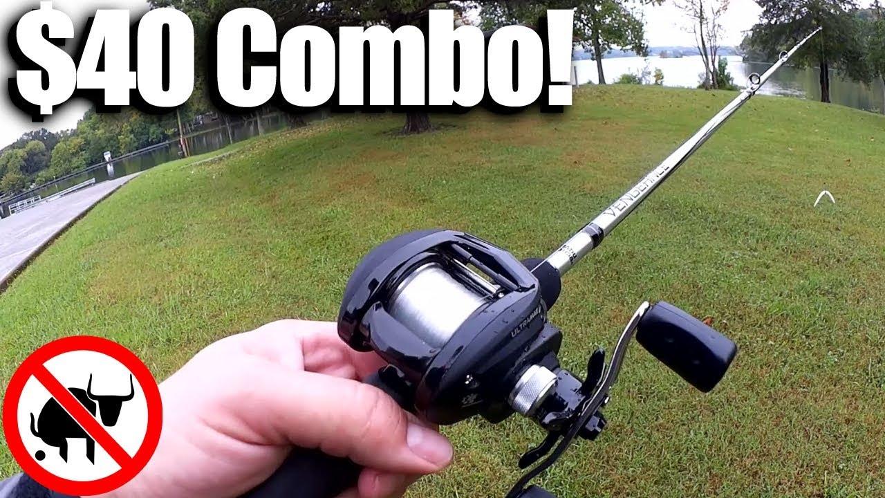 $40 BAITCAST COMBO! Abu Garcia Ultra Max Reel + Vengeance Rod