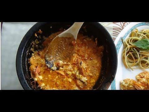 Saganaki - Greek casserole with shrimp