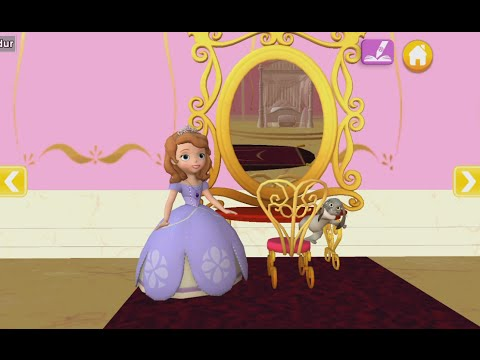 Sofia Bedroom Color And Play Clup House Paint 3D Disney Junior Animated Coloring Book PART 2