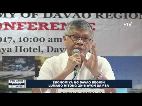 Ekonomiya ng Davao Region, lumago nitong 2016 ayon sa PSA