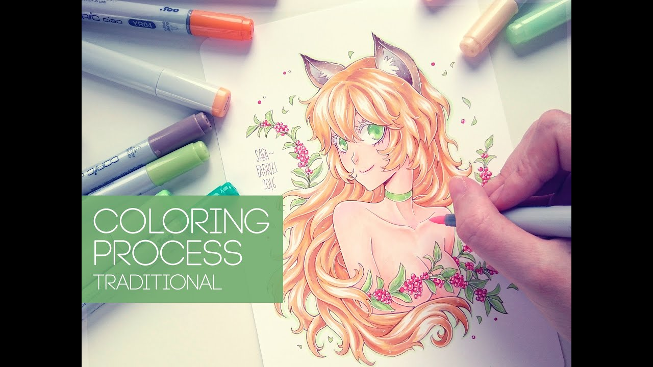 ☆ [FOX GIRL] - Copic Coloring Process - YouTube