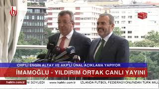 Ekrem İmamoğlu ile Binali Yıldırım canlı yayınının saati ve moderatörü belli oldu