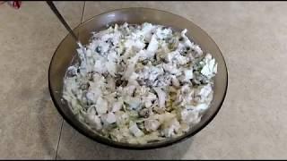 Диетический ПП (правильное питание) салат с курицей