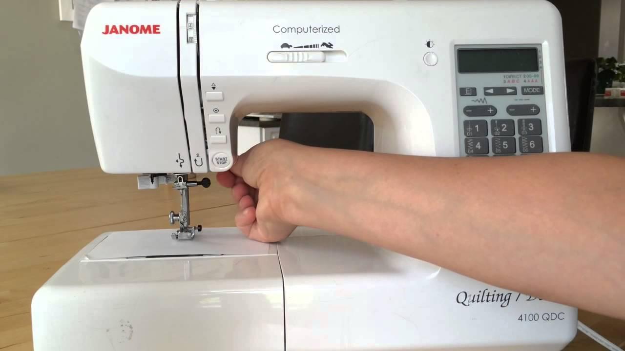 Changing the Janome needle - YouTube