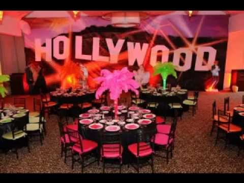 diy hollywood party decorations youtube