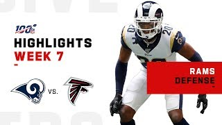 Rams Defense Holds Atlanta to Only 10 Points | NFL 2019 Highlights