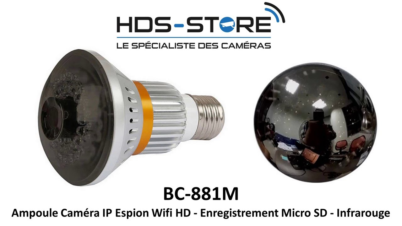 Presentation video ampoule bc881m camera ip espion hd for Miroir hd wireless