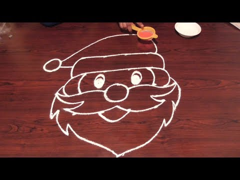 Rangoli With Santa Claus Christmas 4X4 Dots | Pratyekamaina Muggulu Videos | Rangoli Designs