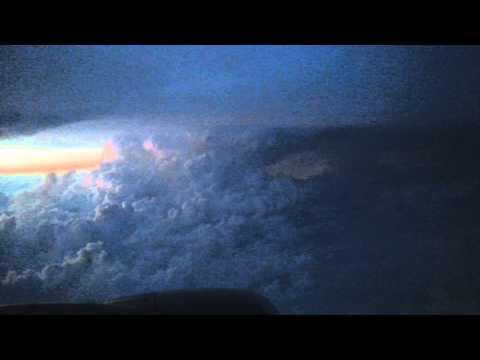 Lighting Display 22,000 Feet High Over Houston, Texas.