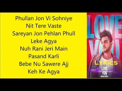 Punjabi song lyrics love you