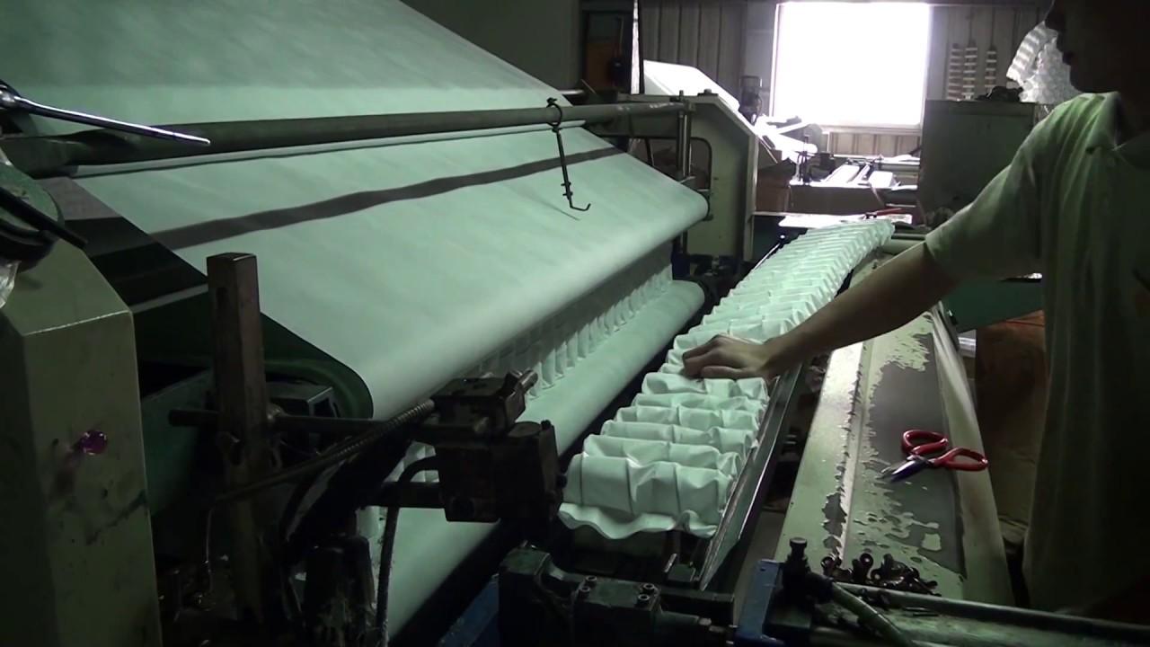 獨立筒床墊從顆粒製作成床墊半成品-臺中佶豐彈簧床墊工廠 - YouTube