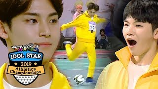 seventeen versus ikon did he block it 2019 idol star athletics championships