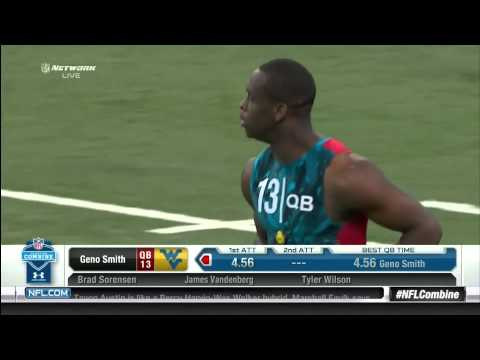 NFL Combine - Geno Smith 40 Yard Dash 4.56