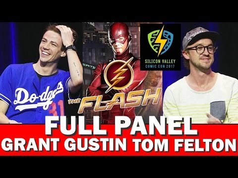 GRANT GUSTIN - THE FLASH - FULL PANEL SILICON VALLEY COMIC CON W/TOM FELTON