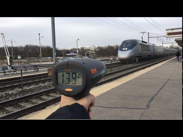 Acela and a Radar Gun - 144 mph [Acelas 16th Anniversary]