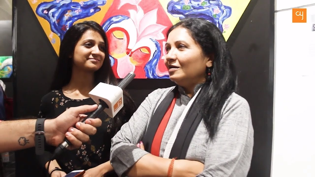 Download Aarti Patel & Aarohi Patel Inaugurate Charity Art Show in Ahmedabad | creativeyatra.com