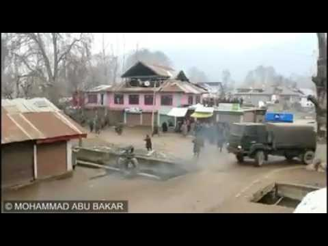 Brave stone pelters of kashmir