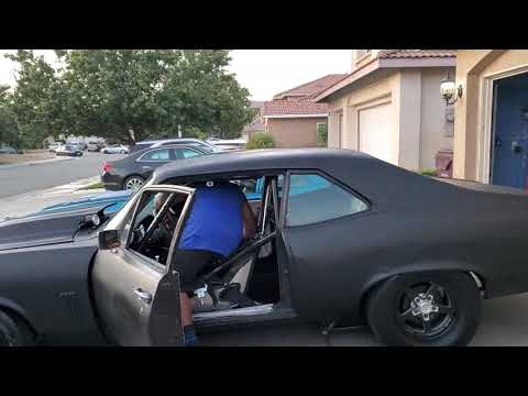 CHEVY NOVA 3 INCH EXHAUST WITH RACE BULLETS