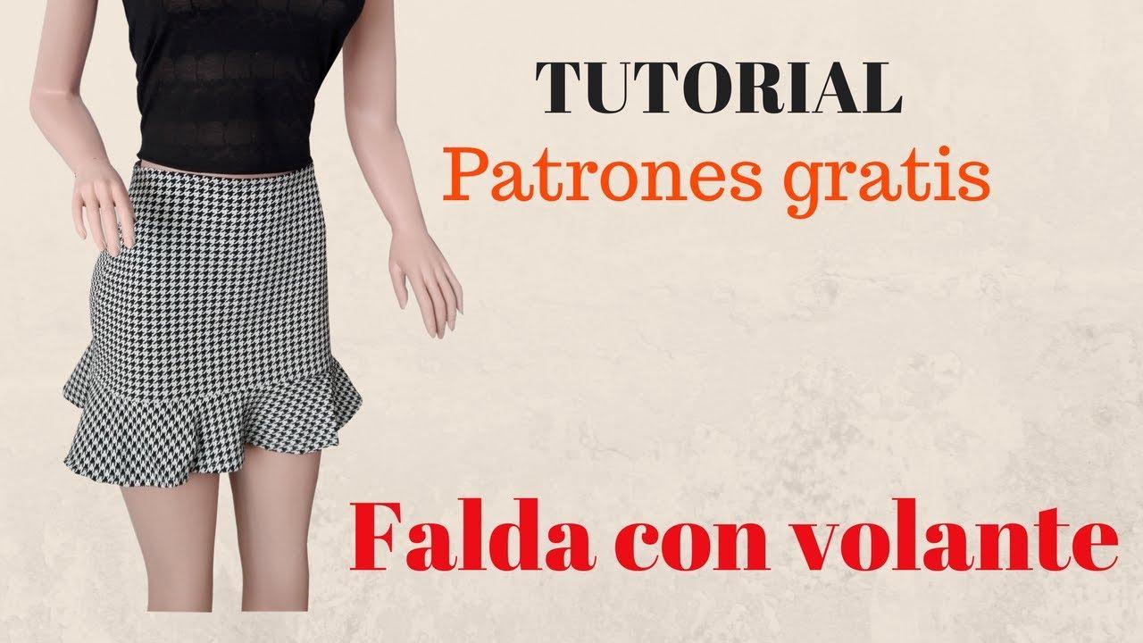 d30e60e708 DIY Como hacer una falda con volante corte y confección - YouTube