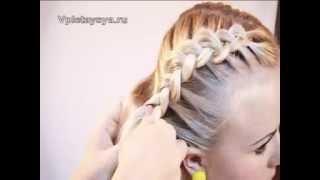 Плетение косичек 2(Подписывайтесь на мой канал http://www.youtube.com/user/4OXYGENE Плетение косичек 2. http://vpletaysya.ru., 2010-07-14T16:07:14.000Z)