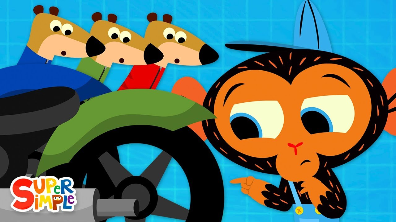 Uh-oh! The Three Meerkats Have a BIG Motorcycle Problem | Cartoon for Kids