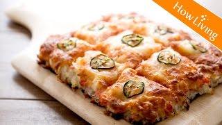 壽司披薩香辣蟹肉Pizza【Eng Sub】創意食譜 料理影片 Spicy Crab Sushi Pizza Recipe│HowLiving美味生活   矽谷美味人妻