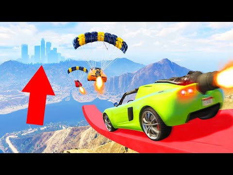 I ATTEMPTED WORLDS LONGEST STUNT JUMP! (GTA 5 Funny Moments)